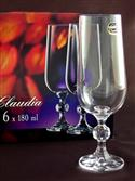 Bohemia Claudia Crystal Glass Champagne Flutes, 6 Piece Set from: AU$59.00