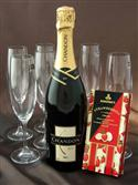 Chandon, Chocolates & Crystal Champagne Flutes from: AU$75.00
