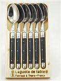 Laguiole 6 Piece Spoon Set - Black from: AU$105.00
