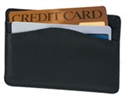 Black Leather Credit Card Sleeve  from: USD$12.94