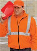 Big Mens Value Fleece Full Zipper Jacket With Reflective Taping By Cornerstone  from: USD$43.99