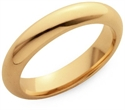 Comfort Fit Wedding Ring In 18k Yellow Gold