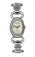 Gucci Tornabuoni Diamond Encrusted Steel Bracelet Silver-tone Dial Women`s Watch #ya118505  from: USD$1,205.50