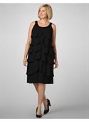 Фасон маленького черного платья с баской для полных фото - Фасон.
