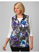 Catherines Women`s Plus Size/blue Multi Spotted Flora Vest - Size 1x, 2x, 3x, 0x  from: USD$26.97