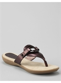 Catherines Women`s Plus Size/bronze Lido Sandals - Size 8
