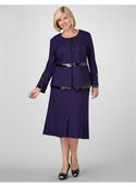 Catherines Women`s Plus Size/dark Purple Carnaby Suit - Size 18w
