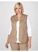 Catherines Women`s Plus Size/driftwood Tan Natural Denim Vest - Size 3x  from: USD$43.50