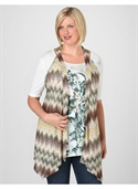 Catherines Women`s Plus Size/green Zigzag Pointelle Knit Vest - Size 0x  from: USD$33.00