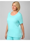 Catherines Women`s Plus Size/light Aqua Marathon Active Tee - Size 0x  from: USD$13.97