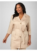Catherines Women`s Plus Size/pebble Weather The Storm Trench - Size 1x, 2x, 3x, 0x  from: USD$73.50