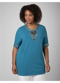 Catherines Women`s Plus Size/seaport Blue Shakti Tee - Size 1x  from: USD$21.97