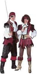 Adult Pirate Girl Costume W/ Stripped Satin Dress - Medium  from: USD$179.94