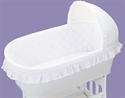 Badger Basket White Batiste Short Standard Bassinet Liner W/ Sheet  from: USD$39.95