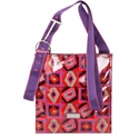Hadaki Printed Scoop Sling Purse - Tic Tac Toe Berry  from: USD$40.00
