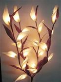White Parrot Flowers On Stems - Fairy Lights Long
