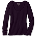 Eddie Bauer Easy Fit Jersey Long Sleeve Scoop-neck T-shirt, Dark Violet L Tall