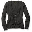 Eddie Bauer Jasp Ruffle V-neck Cardigan, Charcoal S Regular  from: USD$59.95