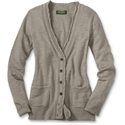 Eddie Bauer Reinforced Yarn Cardigan, Fawn Xl Petite  from: USD$59.95