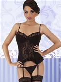 Passion Diana Corset In Black With Thong/g-string  from: US57.95