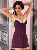 Passion Gabrielle Nightdress In Purple With Thong/g-string  from: US57.95