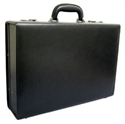 "Mosaic Collection 5"" Ext Edge Napa Leather Attache - Black  from: USD$275.00"