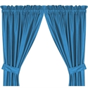 "Carolina Panthers 82"" X 63"" Short Drapes  from: USD$42.95"