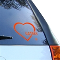 Florida Gators Orange Heart Decal  from: USD$6.95