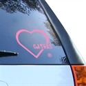 Florida Gators Pink Heart Decal  from: USD$6.95