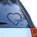 Florida Gators Royal Blue Heart Decal  from: USD$6.95