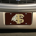 Florida State Seminoles (fsu) Garnet Mirrored License Plate  from: USD$21.95