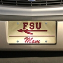 "Florida State Seminoles (fsu) Gold ""fsu Mom"" Mirror License Plate  from: USD$21.95"