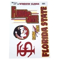 Florida State Seminoles (fsu) Window Clings Sheet  from: USD$6.95