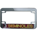 Florida State Seminoles Hologram Chrome Motorcycle License Plate Frame  from: USD$14.95