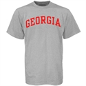 Georgia Bulldogs Ash Horizontal Arch Logo T-shirt  from: USD$12.95