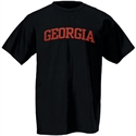 Georgia Bulldogs Black Arch Logo T-shirt  from: USD$12.95