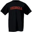 Georgia Bulldogs Black Arch Logo T-shirt  from: USD$12.95