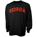 Georgia Bulldogs Black Vertical Arch Long Sleeve T-shirt  from: USD$16.95