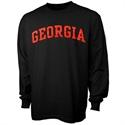 Georgia Bulldogs Black Vertical Arch Long Sleeve T-shirt  from: USD$16.95