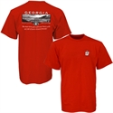 Georgia Bulldogs Red Stadium T-shirt  from: USD$18.95