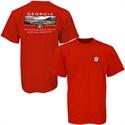 Georgia Bulldogs Red Stadium T-shirt  from: USD$18.95