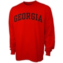 Georgia Bulldogs Red Vertical Arch Long Sleeve T-shirt  from: USD$16.95