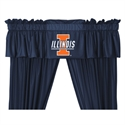 "Illinois Fighting Illini 88"" X 14"" Window Valance  from: USD$29.95"