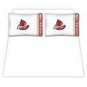 Louisville Cardinals Queen Size Sheet Set  from: USD$59.95