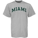 Miami Hurricanes Ash Horizontal Arch Logo T-shirt  from: USD$12.95