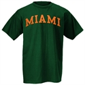 Miami Hurricanes Green Arch Logo T-shirt  from: USD$12.95