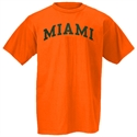 Miami Hurricanes Orange Arch Logo T-shirt  from: USD$12.95