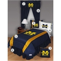 Michigan Wolverines Queen Size Sideline Bedroom Set  from: USD$289.95