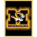 "Missouri Tigers 48""x60"" Focus Series Acrylic Triple Woven Blanket Throw  from: USD$29.95"