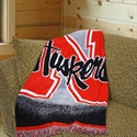 "Nebraska Cornhuskers 48""x60"" Focus Series Acrylic Triple Woven Blanket Throw  from: USD$29.95"